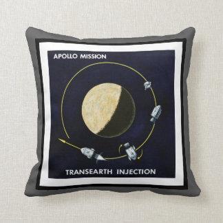 Apollo Program - Moon Mission Artist Concept Throw Pillow