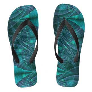 Apophysis Fractal I - ocean blue + your idea Flip Flops