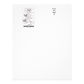 Apoptosis Biology Programmed Cell Death Customized Letterhead