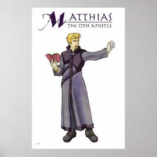 Apostle Matthias Christian Poster
