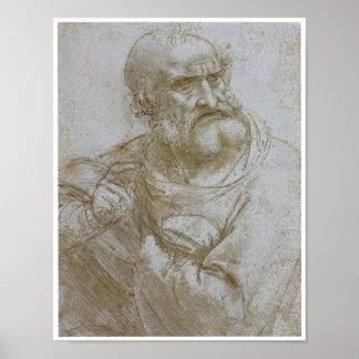 Apostle Study for the Last Supper - Da Vinci Posters