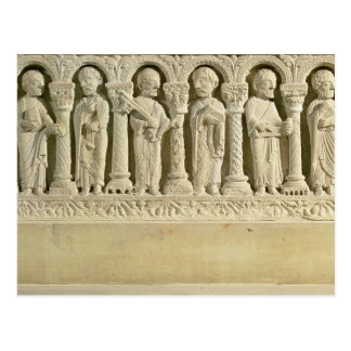 Apostles under Arcades, carved relief, c.1150 (sto Postcard