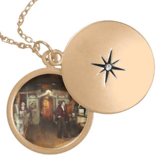 Apothecary - Spell books and Potions 1913 Gold Plated Necklace