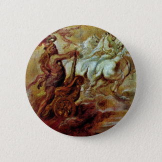 Apotheosis Of Hercules By Rubens Peter Paul 2 Inch Round Button
