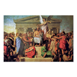 Apotheosis Of Homer By Ingres Jean Auguste Dominiq Poster
