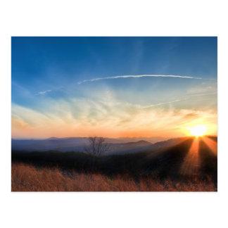 Appalachian and Blue Ridge Mountains Sunset Postcard