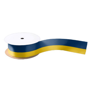Appalachian Gold and Blue-Striped Ribbon Satin Ribbon