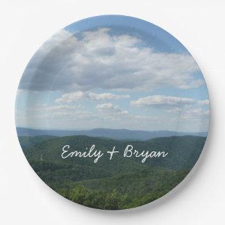 Appalachian Mountains I Shenandoah Personalized 9 Inch Paper Plate