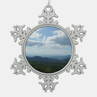 Appalachian Mountains II Shenandoah National Park Pewter Snowflake Ornament