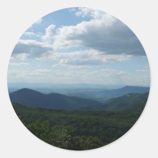 Appalachian Mountains II Shenandoah Round Sticker