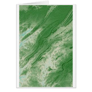 Appalachian Mountains in Alabama- Caribbean Style Card
