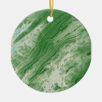 Appalachian Mountains in Alabama- Caribbean Style Ceramic Ornament