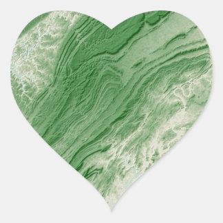 Appalachian Mountains in Alabama- Caribbean Style Heart Sticker