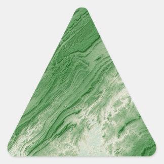 Appalachian Mountains in Alabama- Caribbean Style Triangle Sticker
