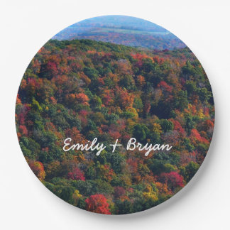 Appalachian Mountains in Fall Nature Photography Paper Plate