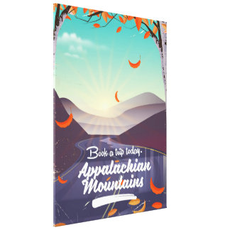 Appalachian Mountains vintage travel poster Canvas Print