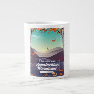Appalachian Mountains vintage travel poster Large Coffee Mug