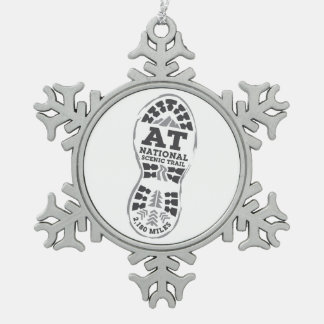 Appalachian National Scenic Trail Pewter Snowflake Ornament