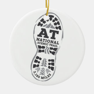 Appalachian National Scenic Trail Round Ceramic Ornament