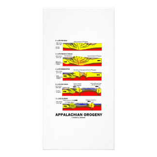 Appalachian Orogeny (Mountain Building Over Time) Personalized Photo Card