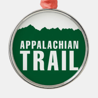 Appalachian Trail (Elevation) Silver-Colored Round Ornament
