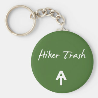 Appalachian Trail Hiker Trash Green  Key Chain