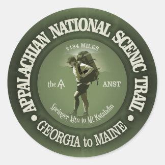 Appalachian Trail (o) Round Sticker