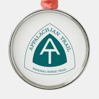 Appalachian Trail Silver-Colored Round Ornament