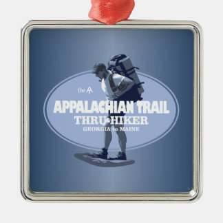 Appalachian Trail (TH) Silver-Colored Square Ornament