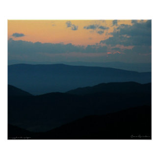 Appalacian Mountain Sunset Poster