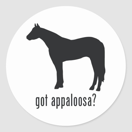 Appaloosa Classic Round Sticker