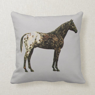 Appaloosa Dark Throw Pillow