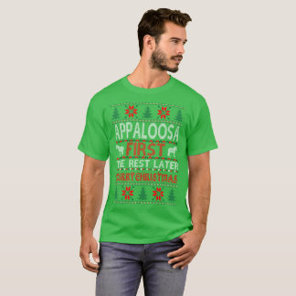 Appaloosa First Rest Later Christmas Ugly Sweater