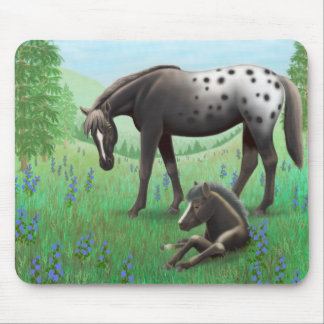 Appaloosa Horse and Foal Mousepad