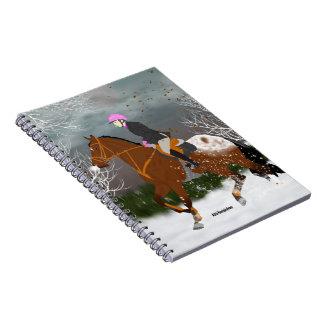 Appaloosa Horse and Rider Spiral Notebook