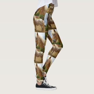 Appaloosa Horse Collage, Ladies Full Print Legging