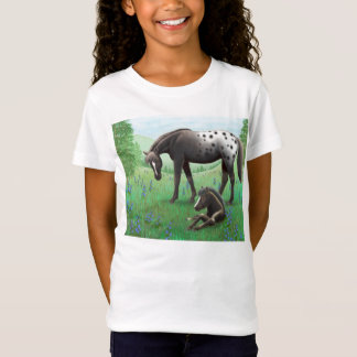Appaloosa Horse & Foal Girls Babydoll Shirt