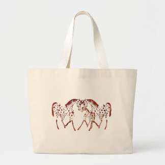 Appaloosa horse lover gifts and apparel large tote bag
