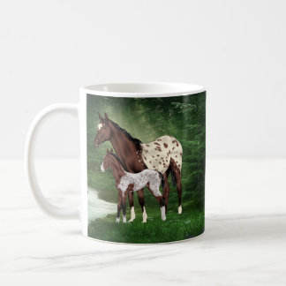 Appaloosa Horse Mare and Foal Coffee Mug