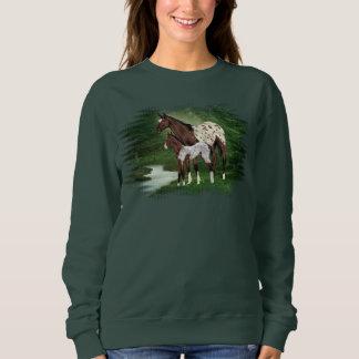 Appaloosa Horse Mare and Foal Sweatshirt
