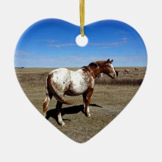 Appaloosa horse on summer prairies ceramic ornament