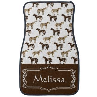 Appaloosa Horse Pattern Personalized Car Mat