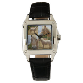 Appaloosa Horse Photo Collage Ladies Leather Watch