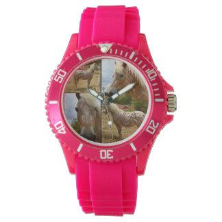 Appaloosa Horse Photo Collage Pink Sports Watch