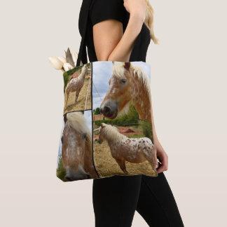 Appaloosa Horse, Photo Collage Tote Bag