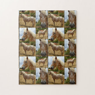 Appaloosa Horses Photo Collage, Jigsaw Puzzle