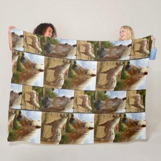 Appaloosa Horses Photo Collage, Large Fleece Blanket