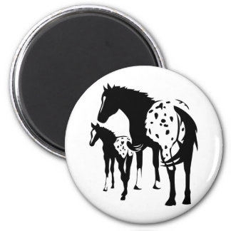 Appaloosa Mare and Foal Refrigerator Magnets