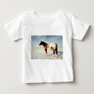 Appaloosa Mare in Winter Snow Baby T-Shirt
