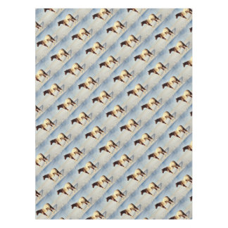 Appaloosa Mare in Winter Snow Tablecloth